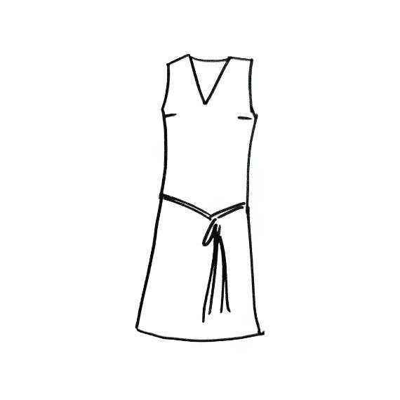 Dessin robe courte