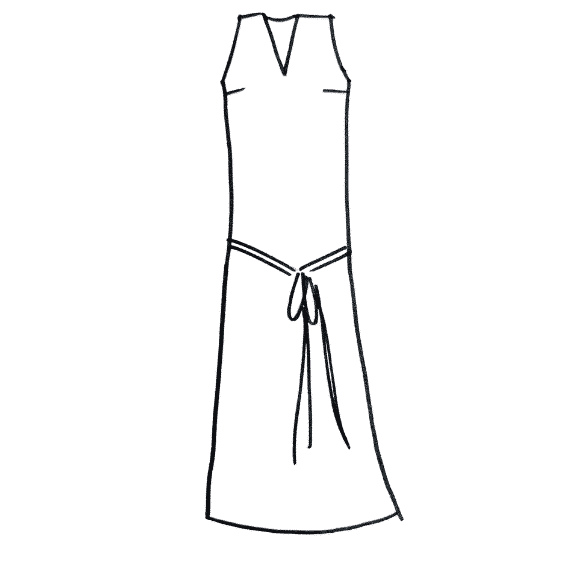 dessin robe longue