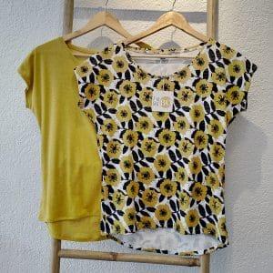 Tee-shirt Isa fleurs jaunes