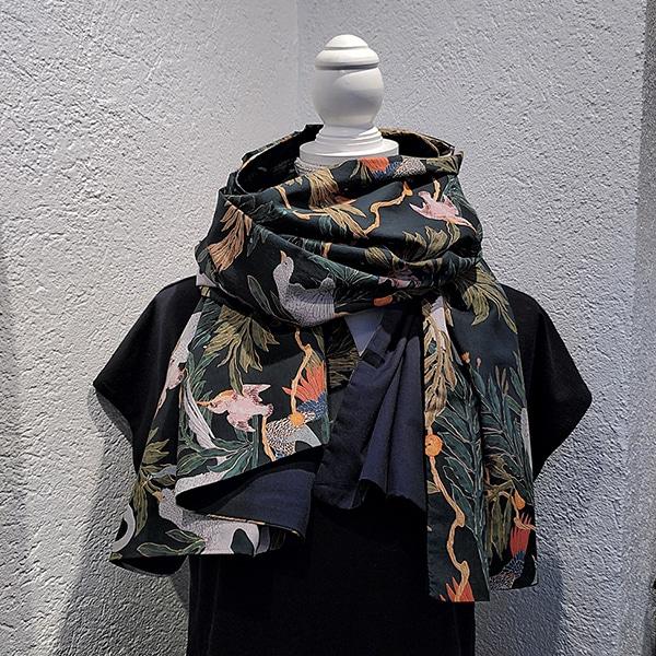foulard écharpe tissu jungle coton bio