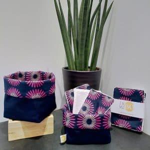 Vide-poches fleurs fuchsia